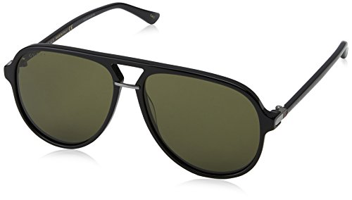 Gucci Black Pilot Sunglasses Lens Category 3 Size 58mm