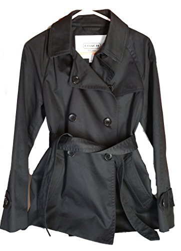 Coach Solid Short Trench Coat Jacket