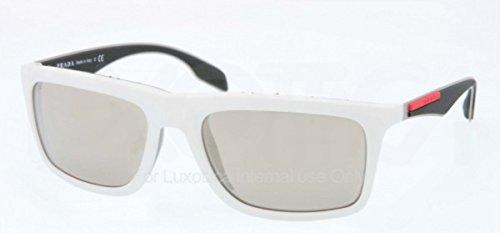 Prada Linea Rossa Men's White/Light Brown Mirror