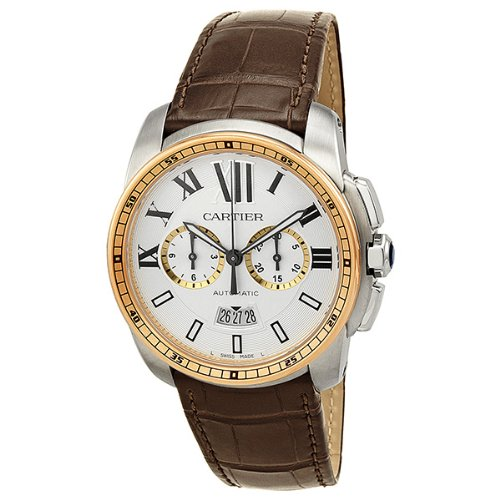 Cartier Calibre Men's Two Tone Chronograph Watch