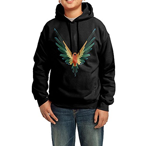 2 Kids Logan Paul Logang Maverick Hoodie Hooded Sweatshirt (Black,L)