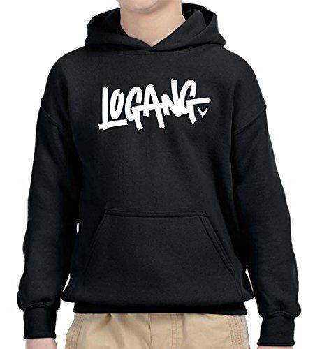 New Way 824 - Youth Hoodie Logang Logan Paul Maverick Unisex Pullover Sweatshirt Small Black