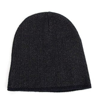 Gucci Dark Blue Wool Cashmere Knit Beanie Hat with Logo (Large)