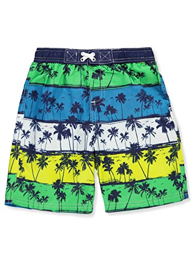 iXtreme Little Boys' Palm Tree Beach Swim Trunk, Navy, 5