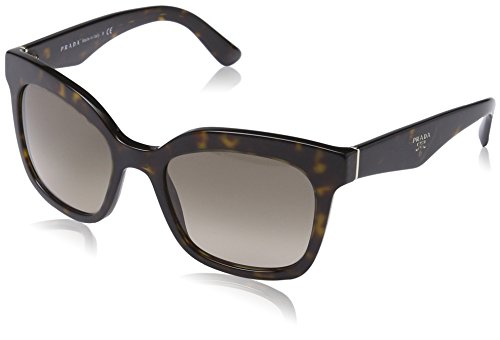 Prada Women's Sunglasses Havana / Light Brown Grad Light Grey 53mm