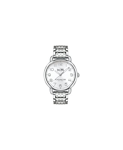 COACH Women's Delancey 36mm Etched Bracelet Watch White Sunray/Stainless Steel One Size