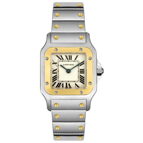 Cartier Women's Santos 18K Gold and Stainless Steel Watch