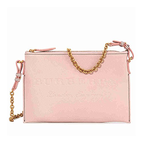 Burberry Leather Clutch Bag- Pale Ash Rose