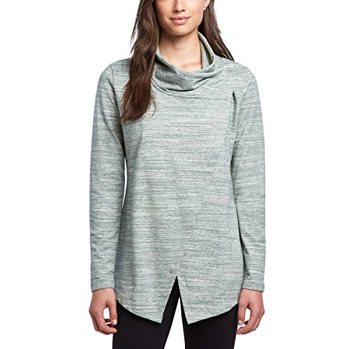 Danskin Womens Wrap Long Sleeve Yoga Cardigan (Medium, Pine Grove)