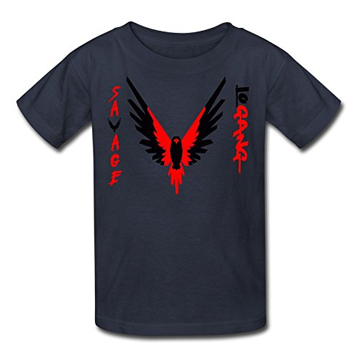 Eric A. Collins Youth Kids T-Shirt Short Sleeve Logan Paul Same Popular Logo Navy S