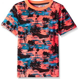 American Hawk Boys' Short Sleeve Tee, TL34-Coral, 7