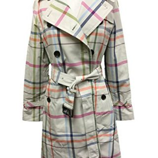Coach Women's Full Length Tattersall Trench Coat Jacket Multicolor X-Small