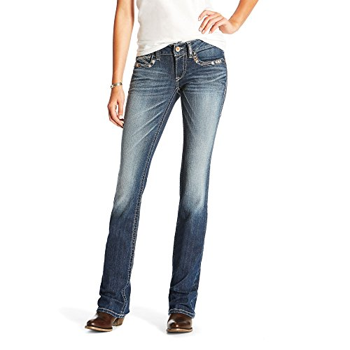 Ariat Womens R.E.A.L Low Rise Chloe Boot Cut Jean 29 L Marine