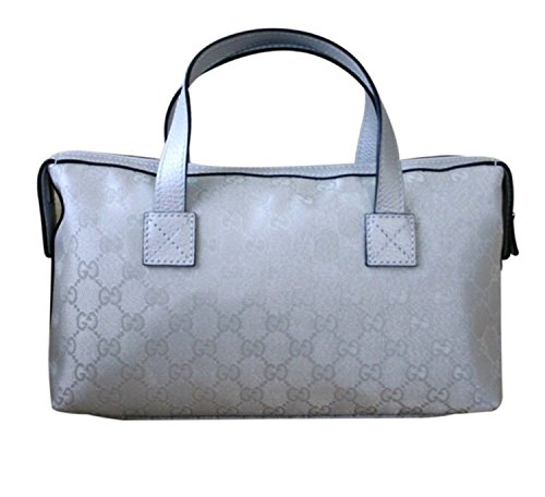 Gucci Boston Bowling Bag Canvas Handbag (Silver)