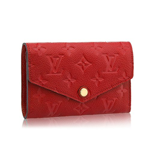Louis Vuitton Monogram Empreinte Compact Curieuse Wallets Article: M60735 Cherry