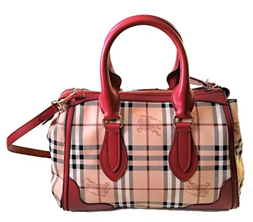 Burberry Haymarket Gladstone Tote Bag