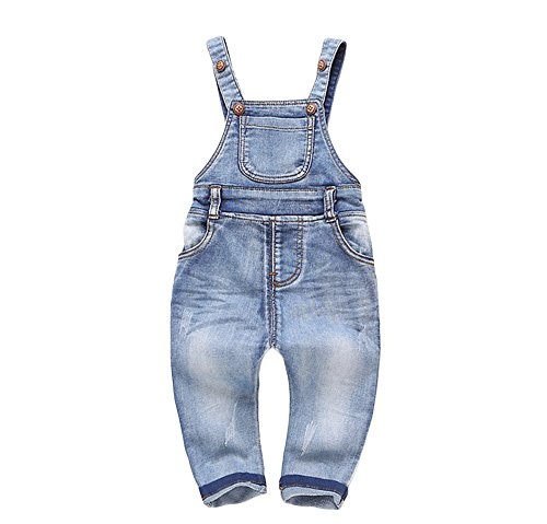 Kidscool Baby & Little Boys/Girls Plaid Lining Denim Overalls Jeans