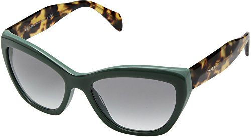 Prada Opal Green Cat Eye Sunglasses, 56mm