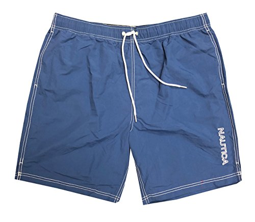Nautica Mens Quick-Dry Logo Swim Trunk Shorts (3XL, Dark Blue(463))