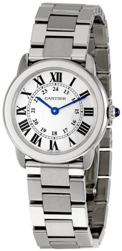 "Cartier Women's ""Ronde Solo"" Stainless Steel Watch with Link Bracelet"
