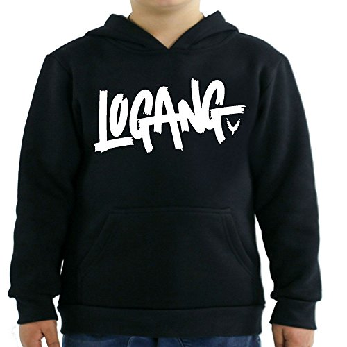 Logang Logan Paul Maverick Kids Hoodies (Large/10-12 yrs, Black)