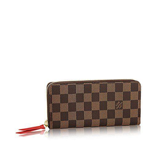 Louis Vuitton Damier Ebene Canvas Clemence Wallet
