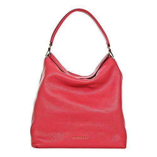Burberry Medium Leather Hobo Bag - Pink Azalea