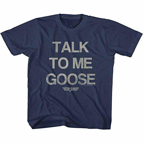Top Gun Talk To Me Goose Movie Action Drama Navy Big Boys Youth T-Shirt Tee