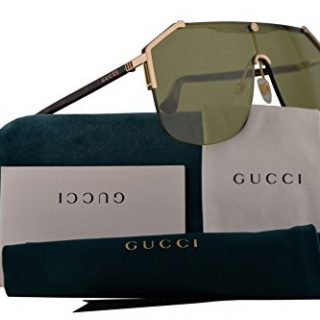 Gucci Sunglasses Gold Havana w/Green Lens 99mm 004 GG0291/S GG 0291/S GG 0291S
