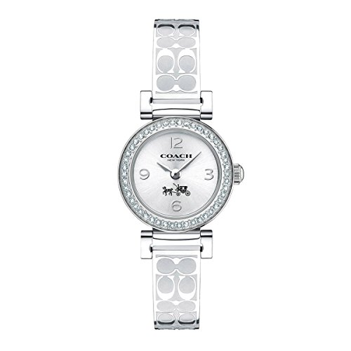 Coach Women's Madison Signature Silver Stainless Bangle Glitz Watch