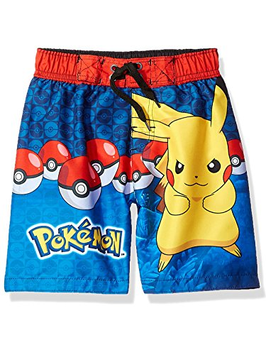 Dreamwave Big Boys' Pokemon Swim Trunk, Royal Blue, 5/6