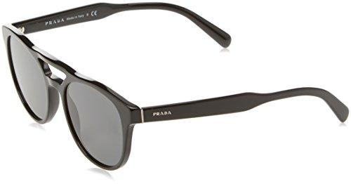 Prada Rectangle Sunglasses, Black, 53mm