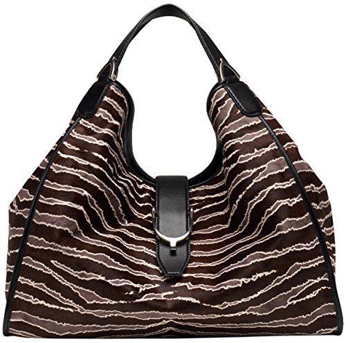 Gucci Brown Pony Hair Soft Stirrup 'Limited Edition' Leather Shoulder Bag