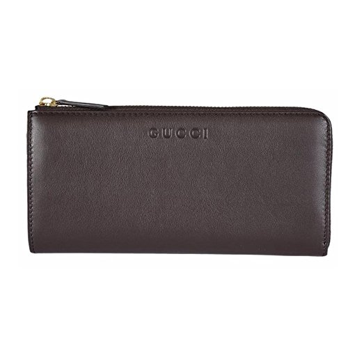 Gucci Women's Leather Zip Wallet (Cocoa Brown)