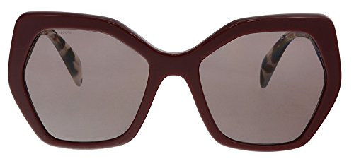 Prada Women's Oversized Geometric Glasses, Bordeaux/Purple Brown, One Size