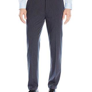 Van Heusen Men's Flex Straight Fit Flat Front Pant, Ash Navy, 36W x 32L