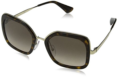 Prada Women's Oversized Square Sunglasses, Havana/Brown Grey, One Size