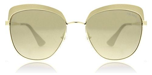 Prada Metallized Pale Gold Round Sunglasses Lens Category