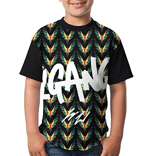 Logan Paul Maverick Parrot Boys Raglan Short Sleeves Shirt