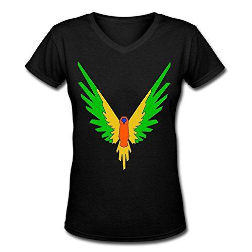 Doppelwalker Maverick Logo T Shirt,Logan Paul Logang YouTube womens V Neck T-Shirts (L, Black01)