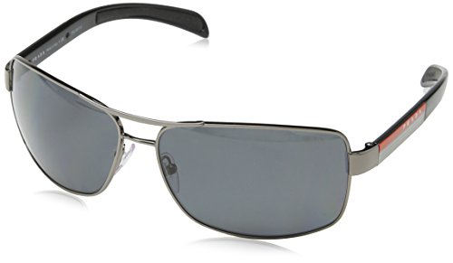 Prada Sport Sunglasses-5AV/5Z1 Gunmetal (Polarized Gray Lens)-65mm