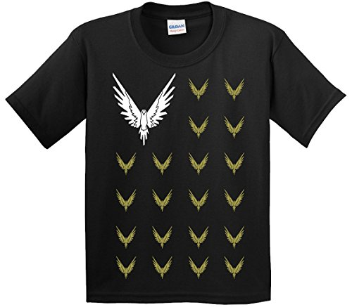 New Way 830 - Youth T-Shirt Maverick Bird Savage Logang Flag Medium Black