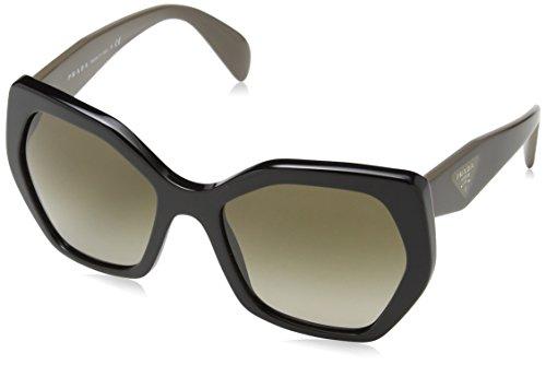 Prada Women's Sunglasses Black / Brown Gradient 56mm