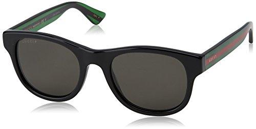 Gucci Fashion Sunglasses, One Size, Black / Grey / Green