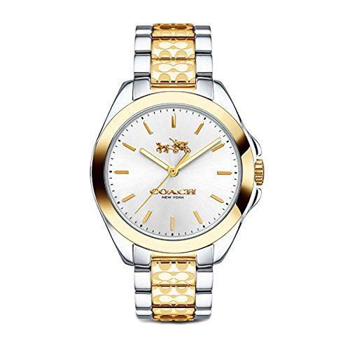 Coach Womens Tristen Classic Signature Two Tone Watch