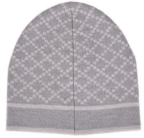 Gucci Men's Wool Diamante Silver Grey Beanie Hat