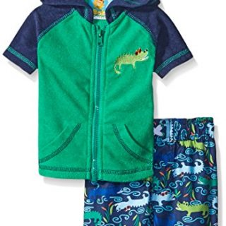 Baby Buns Baby Boys' Later Gater Terry Cover up Swim Set, Multi, 3-6 Months