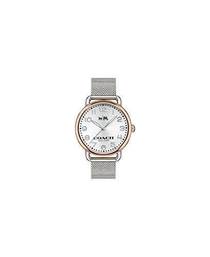 Coach Women's Delancey Stainless Mesh Bracelet Rose Gold Tone Watch
