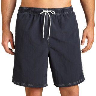 Nautica Men's Solid Nylon Swim Trunk,Navy,Medium