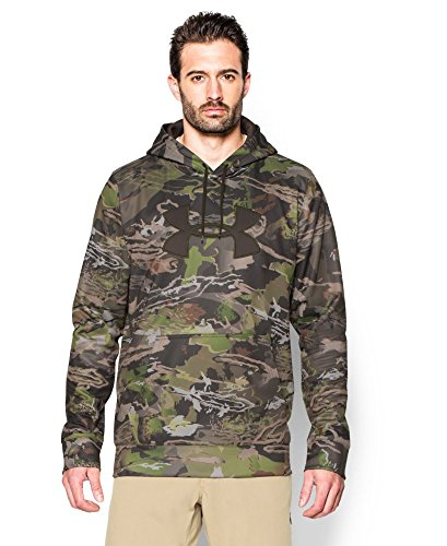 Under Armour Men's Storm Camo Big Logo Hoodie, Ridge Reaper Camo Fo (943)/Maverick Brown, XXX-Large